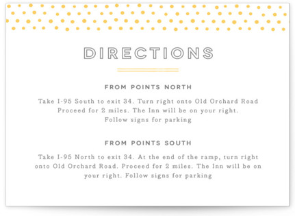 Crosby Letterpress Directions Cards