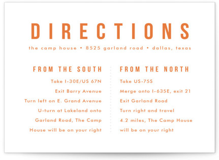 Mod Bloom Letterpress Directions Cards
