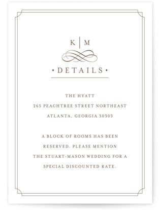 A Glamorous Affair Letterpress Directions Cards