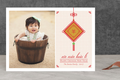 Chinese Lucky Charm Chinese New Years Cards