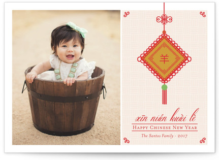 Chinese Lucky Charm Lunar New Year Cards