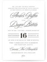 Tied the Knot Letterpress Wedding Invitations