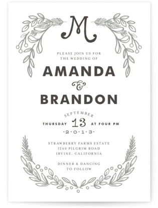 Chalkboard Letterpress Wedding Invitations