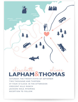 Destination Letterpress Wedding Invitations