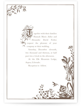 Storybook Letterpress Wedding Invitations