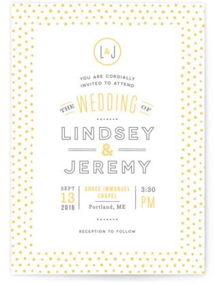 Crosby Letterpress Wedding Invitations