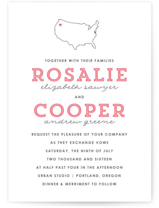 On Location Letterpress Wedding Invitations
