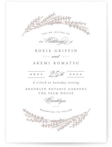 Arches of Wheat Letterpress Wedding Invitations