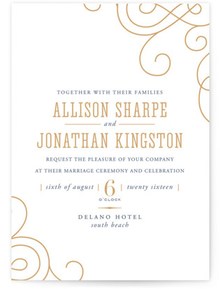 Delano Letterpress Wedding Invitations