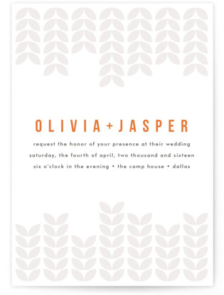 Mod Bloom Letterpress Wedding Invitations