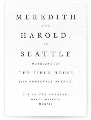 Johannis Letterpress Wedding Invitations