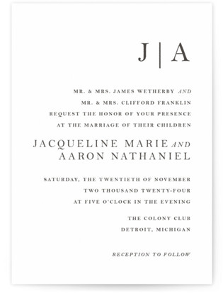 Sophistotype Letterpress Wedding Invitations