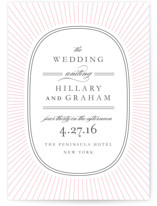 Plaza Letterpress Wedding Invitations