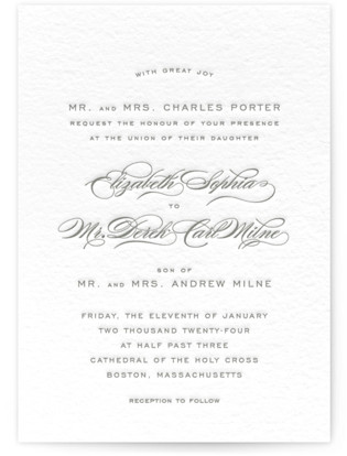 Gracieux Letterpress Wedding Invitations