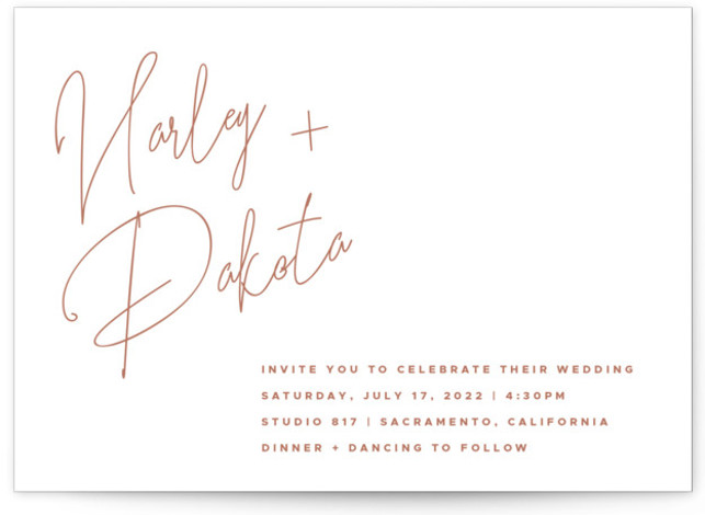 Poised Letterpress Wedding Invitations