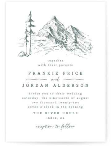 fresh air Letterpress Wedding Invitations