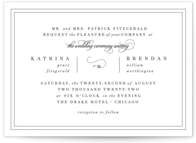 Garnish Letterpress Wedding Invitations