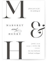 Trio Letterpress Wedding Invitations