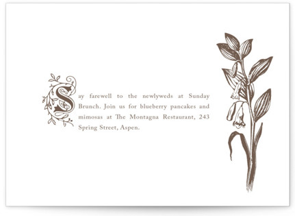 Storybook Letterpress Reception Cards