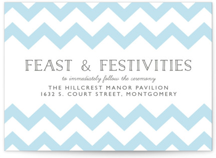 Modern Belle Letterpress Reception Cards
