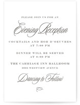 Tied the Knot Letterpress Reception Cards