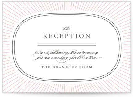 Plaza Letterpress Reception Cards