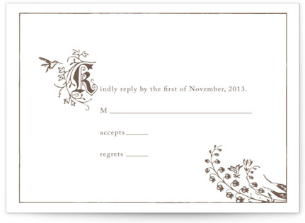 Storybook Letterpress RSVP Cards