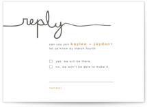 The Happy Couple Letterpress RSVP Cards