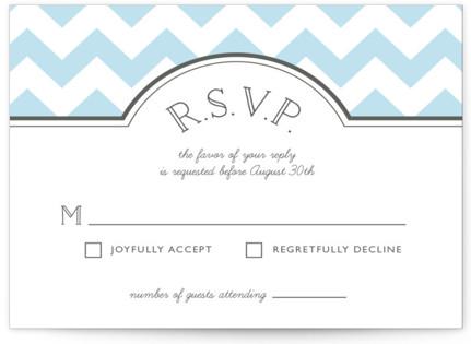 Modern Belle Letterpress RSVP Cards