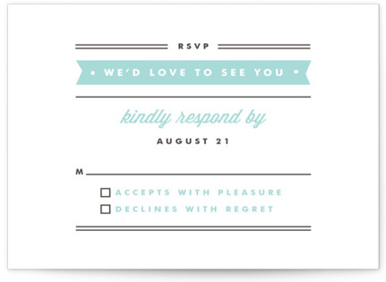 Posted Letterpress RSVP Cards