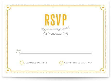 Delicate Frame Letterpress RSVP Cards