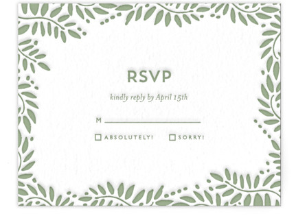 Filigree Letterpress RSVP Cards