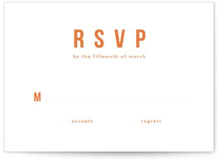 Mod Bloom Letterpress RSVP Cards