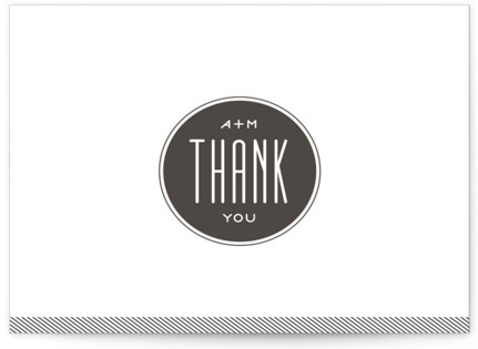 Twine Letterpress Thank You Cards