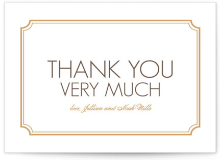 Modern Classic Letterpress Thank You Cards