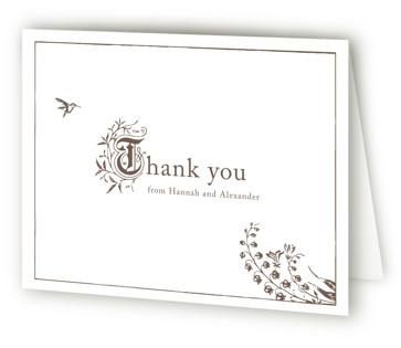Storybook Letterpress Thank You Cards