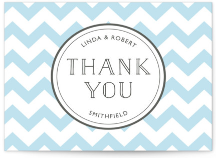 Modern Belle Letterpress Thank You Cards