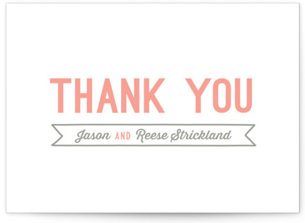Rustic Charm Letterpress Thank You Cards