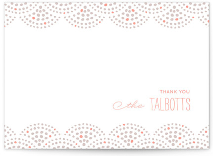 Beaded Letterpress Thank You Cards
