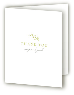 Leaves Letterpress Thank You Cards