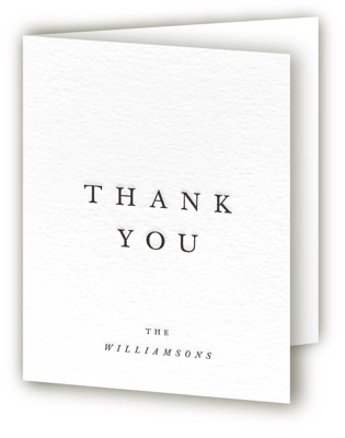 Johannis Letterpress Thank You Cards