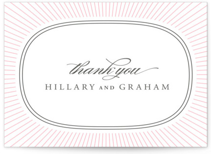 Plaza Letterpress Thank You Cards