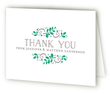 Botanical Letterpress Thank You Cards