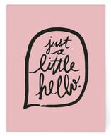 A Little Hello by Ariel Rutland