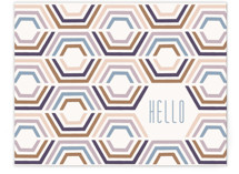 Divided Hexagons Hello by Amber Barkley