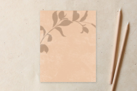 Botanical Shadow Stationery Non-Custom A2 Cards