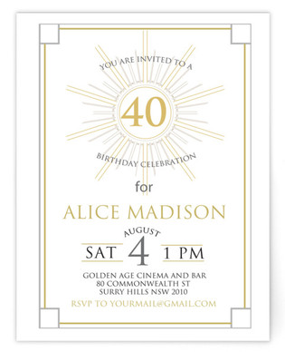 Vintage Birthday Party Invitation Self-Launch Birthday Party Invitations