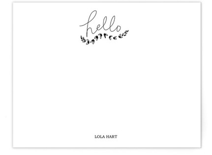 A Rustic Hello Self-Launch Business Stationery