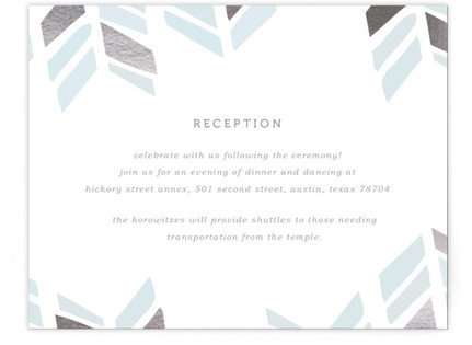 Arrow Head Foil-Pressed Mitzvah Reception Cards
