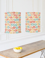 Summer Leaves Self Launch Chandelier Lampshades